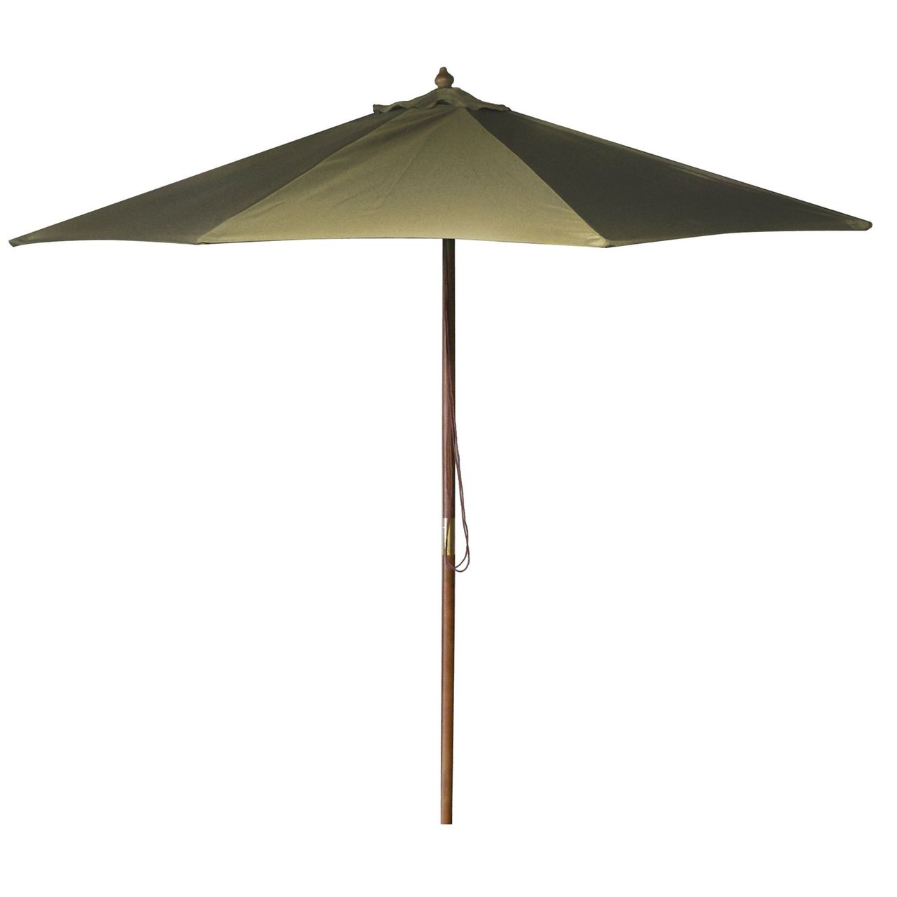 9-Foot Outdoor Patio Umbrella with Wood Frame and Natural Beige ...