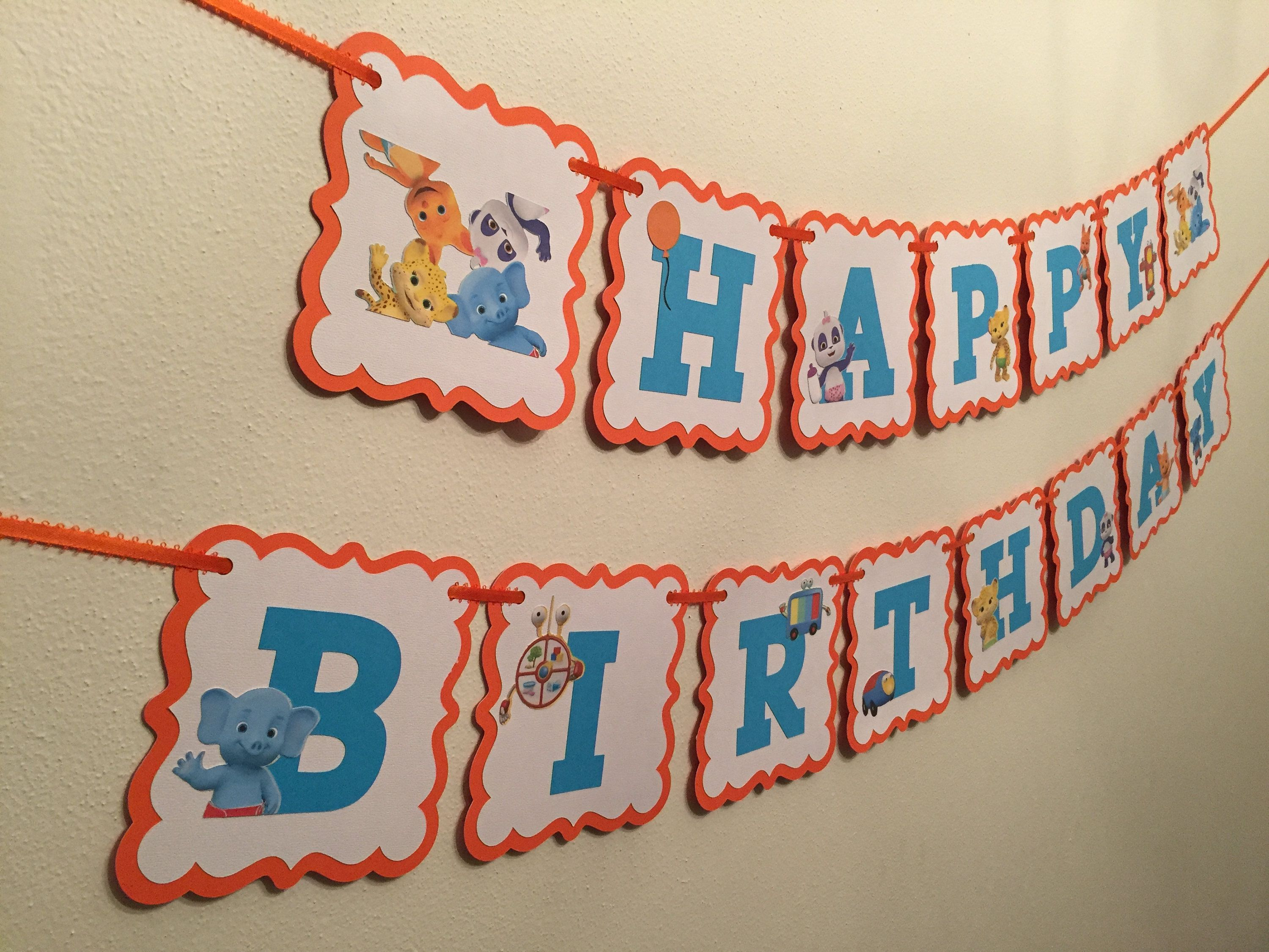 Word Party Birthday Banner By Taimcreations On Etsy Word Party