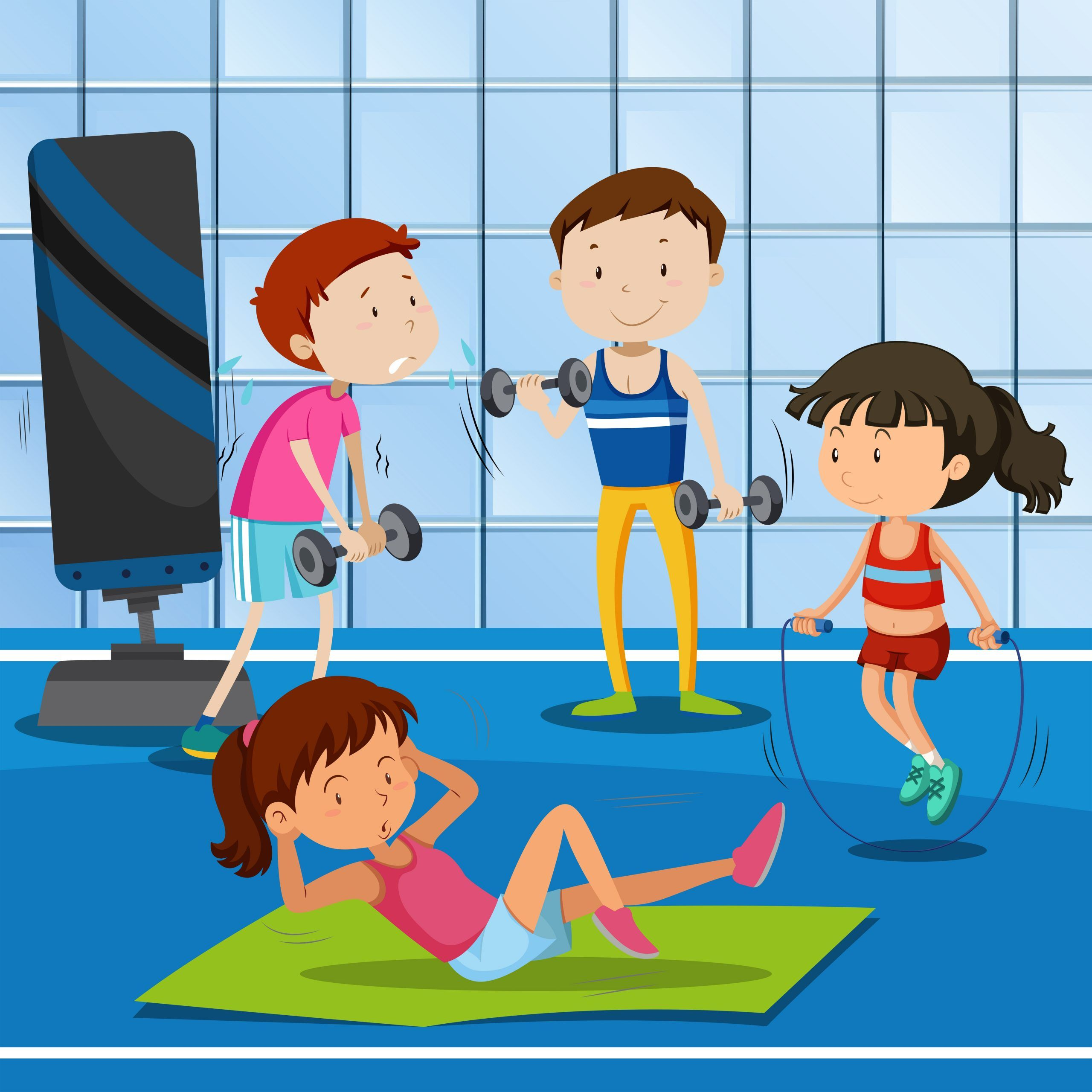 Gym Clipart In 2021 Gym Clip Art Workout