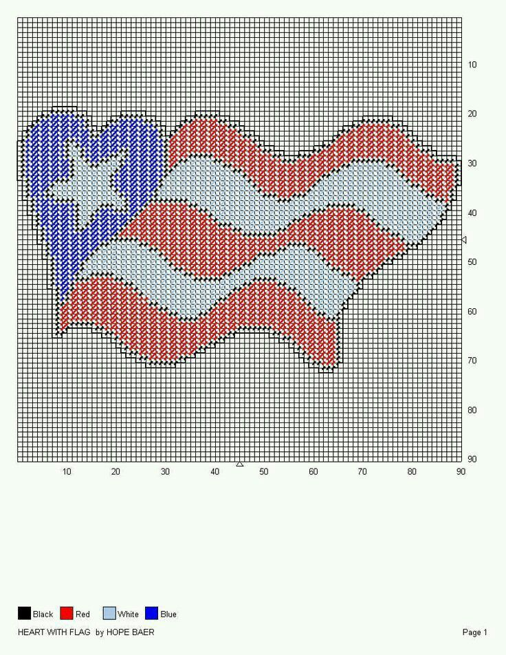 HEART WITH FLAG by HOPE BAER -- WALL HANGING   Cosas   Pinterest