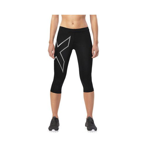 Women's 2XU Core Compression 3/4 Tight - Black/Silver Tight-Fit #sweatpantsoutfit