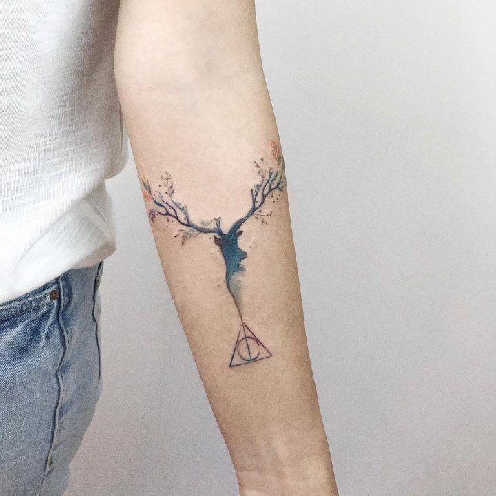 Expectopatronum Patronus Harrypotter Deathlyhollows Tattogirl Tattofeminina Tattomasculin Expecto Patronum Tattoo Patronus Tattoo Harry Potter Tattoos