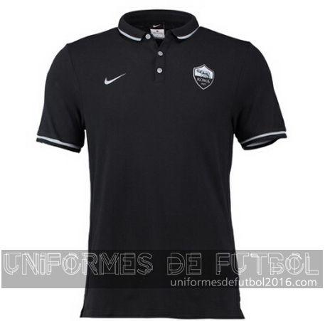 Venta de Camisetas polo negro AS Roma 2015-16  b2df548b60709
