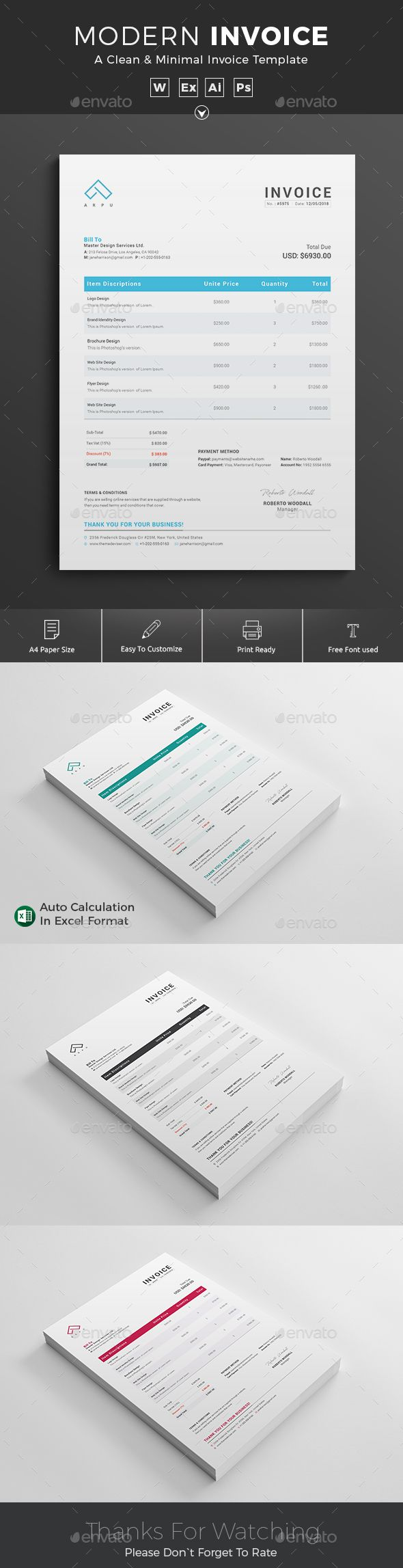Ms Word Proposal Template Invoice Template Psd Ai Ms Word  Proposal & Invoice Templates .