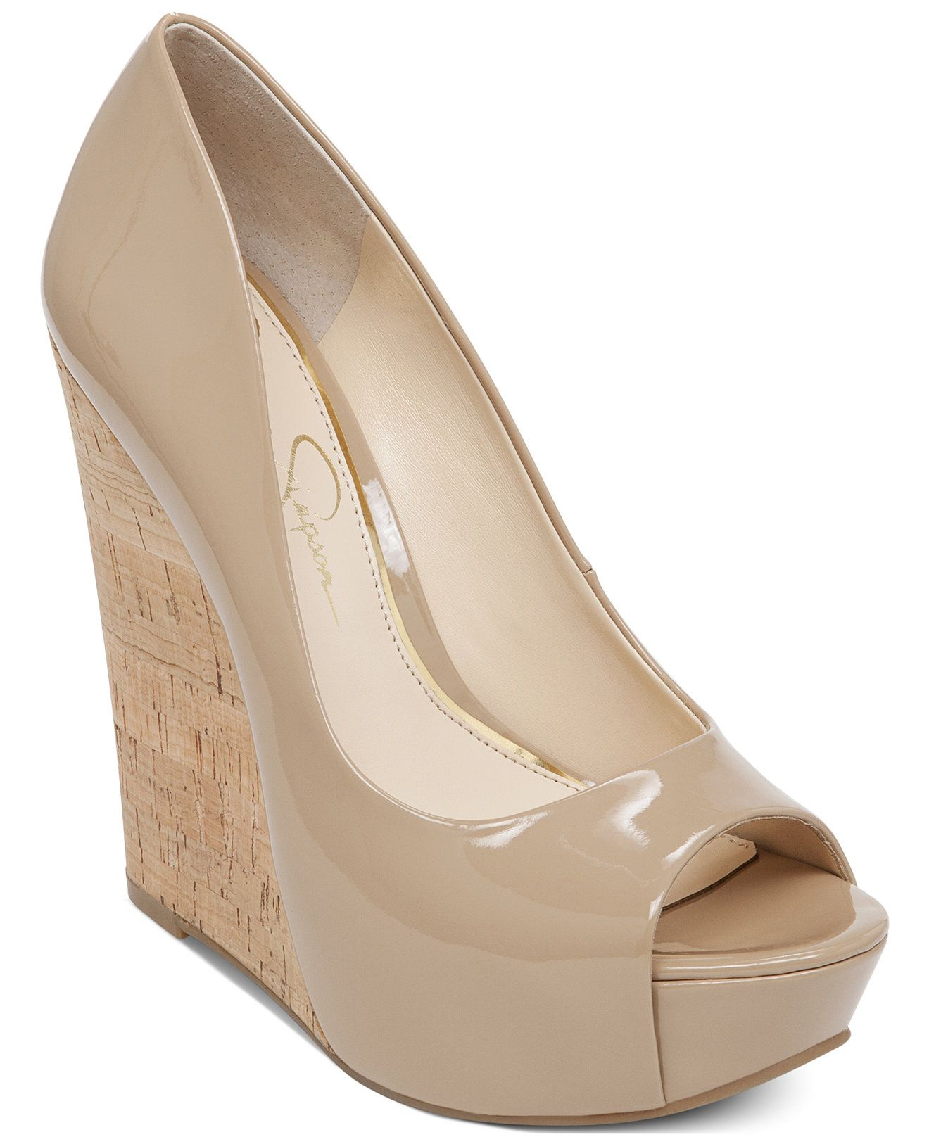11e93c0ba24d Code  GREAT Jessica Simpson Bethani Cork Platform Wedge Pumps - Pumps -  Shoes - Macy s