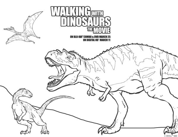 Walking With Dinosaurs Printable Coloring Page