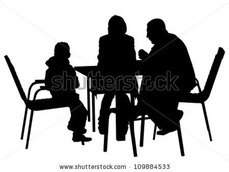 Cafe Tables Silhouette Google Search Silhouette People