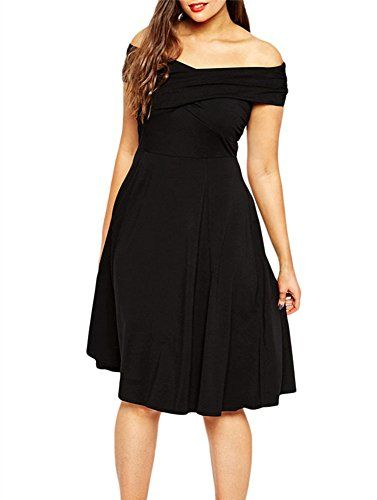 4a66c89c5d0 Gloria Sarah Women s Off Shoulder Wrap Curvy Plus Size Cocktail Dress  9.99
