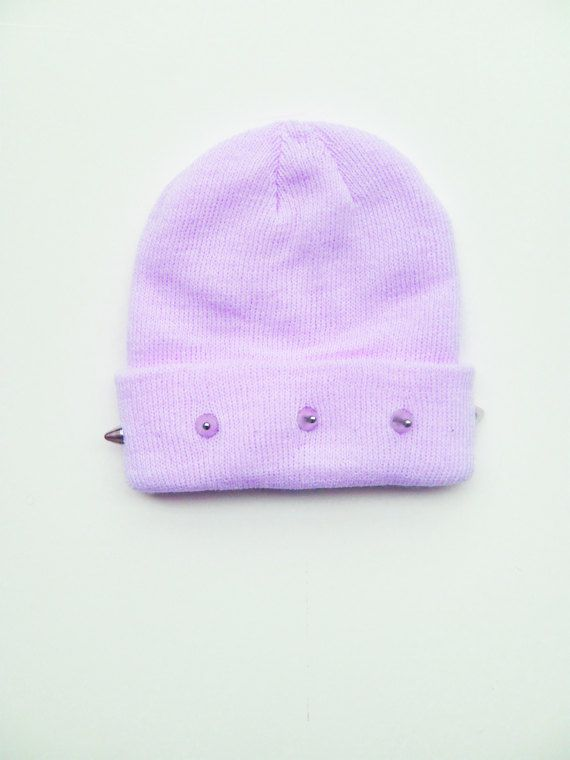 88c7a72ad Pastel purple studded beanie | --JEWELRY & ACCESSORIES-- in 2019 ...