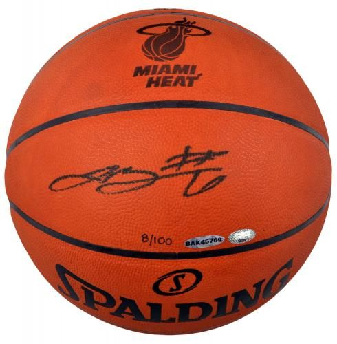 6ba9b1bd366 Lebron James Autographed Limited Edition Logo Basketball - 8 100 - Sports  Memorabilia