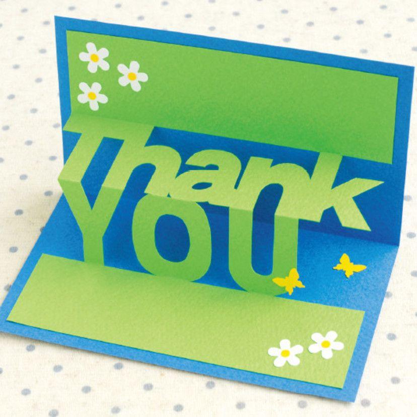 簡単手作り 飛び出すthank Youカードの作り方メッセージカード