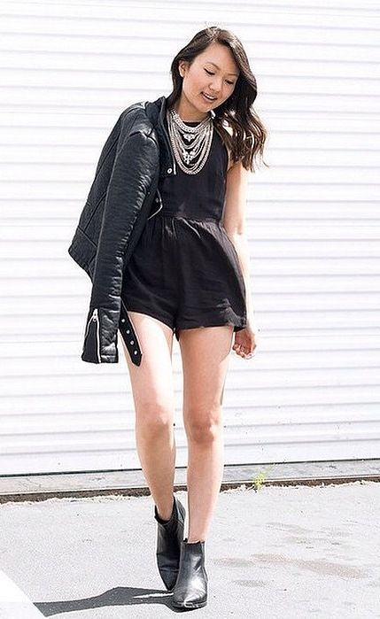 c5d45c7e746 100 Easy Outfits to Try When You Have Zero Clue What to Wear. Total  BlackAll BlackBlack RomperFashion TipsFall FashionStyle FashionSummer ...
