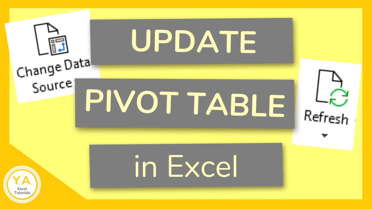How To Update Pivot Table When Source Data Changes In Excel Tutorial Excel Tutorials Microsoft Excel Tutorial Pivot Table