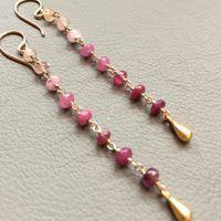 Pink Sapphire Ombré Drop Earrings