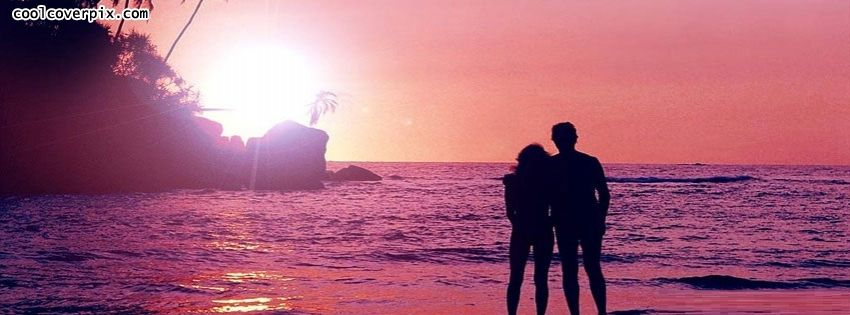Love And Romance Facebook Covers Nature Sunset Scene With Lovely Couple On The Beach Side Facebook Page Cover Photo Cover Photos Tumblr Facebook Cover Photos