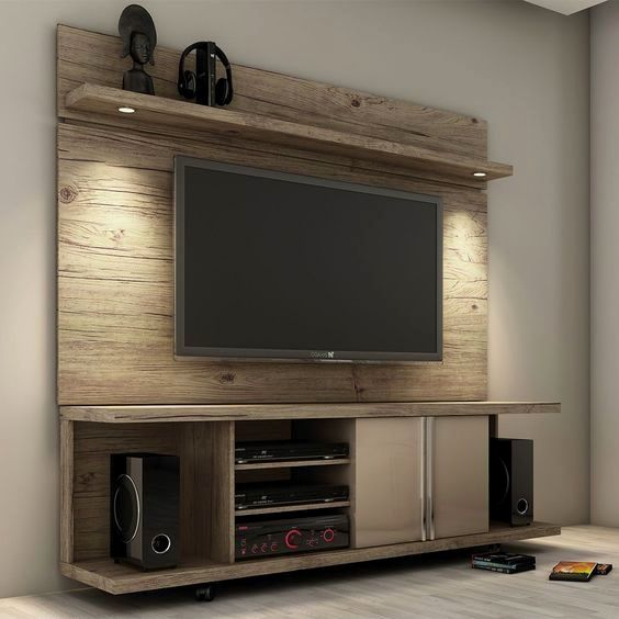 Carnegie TV Stand and Park 1.8 Floating Wall TV Panel