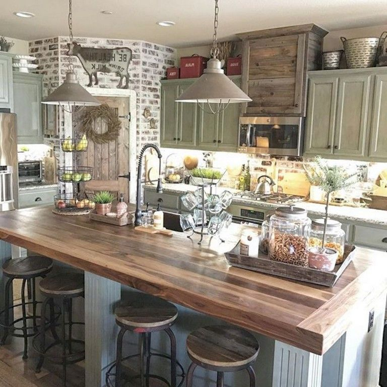 Cuisine Champêtre Moderne: 50+ Awesome Farmhouse Kitchen Ideas