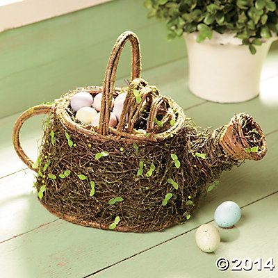 Bird Nest Watering Can.  this is adorable!!
