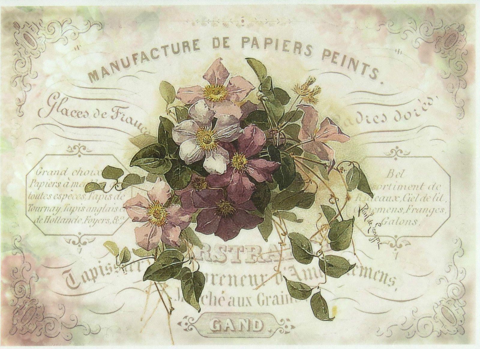 Rice Paper For Decoupage Scrapbook Sheet Craft Flower Bouquet 2