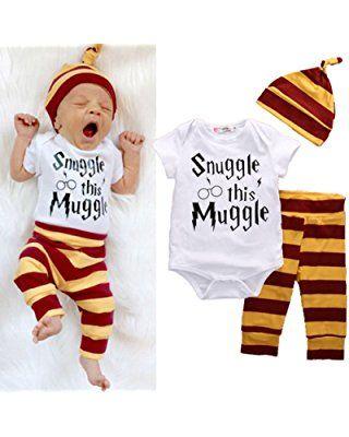 52283c33e883c 3Pcs/Set Infant Baby Boy Girl Snuggle this Muggle Rompers+Striped ...