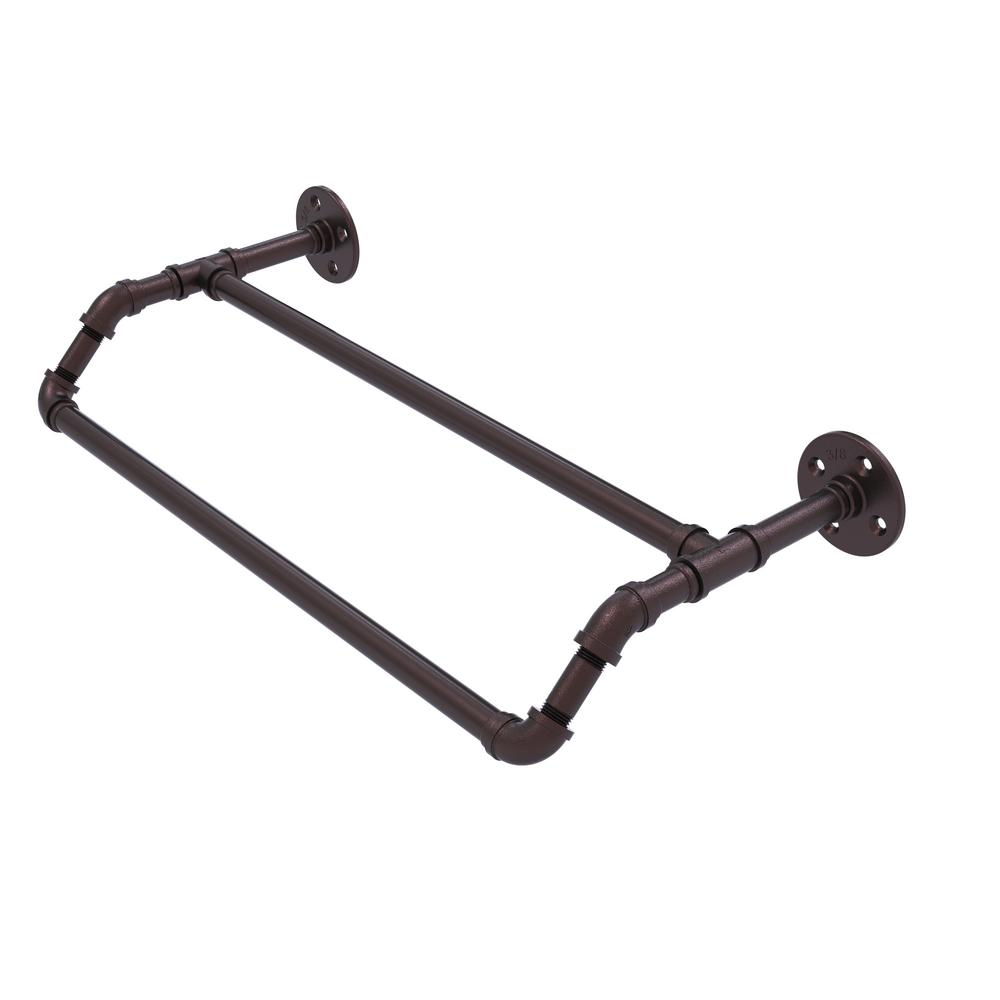 Allied Br Pipeline Collection 36 In Double Towel Bar Antique Bronze