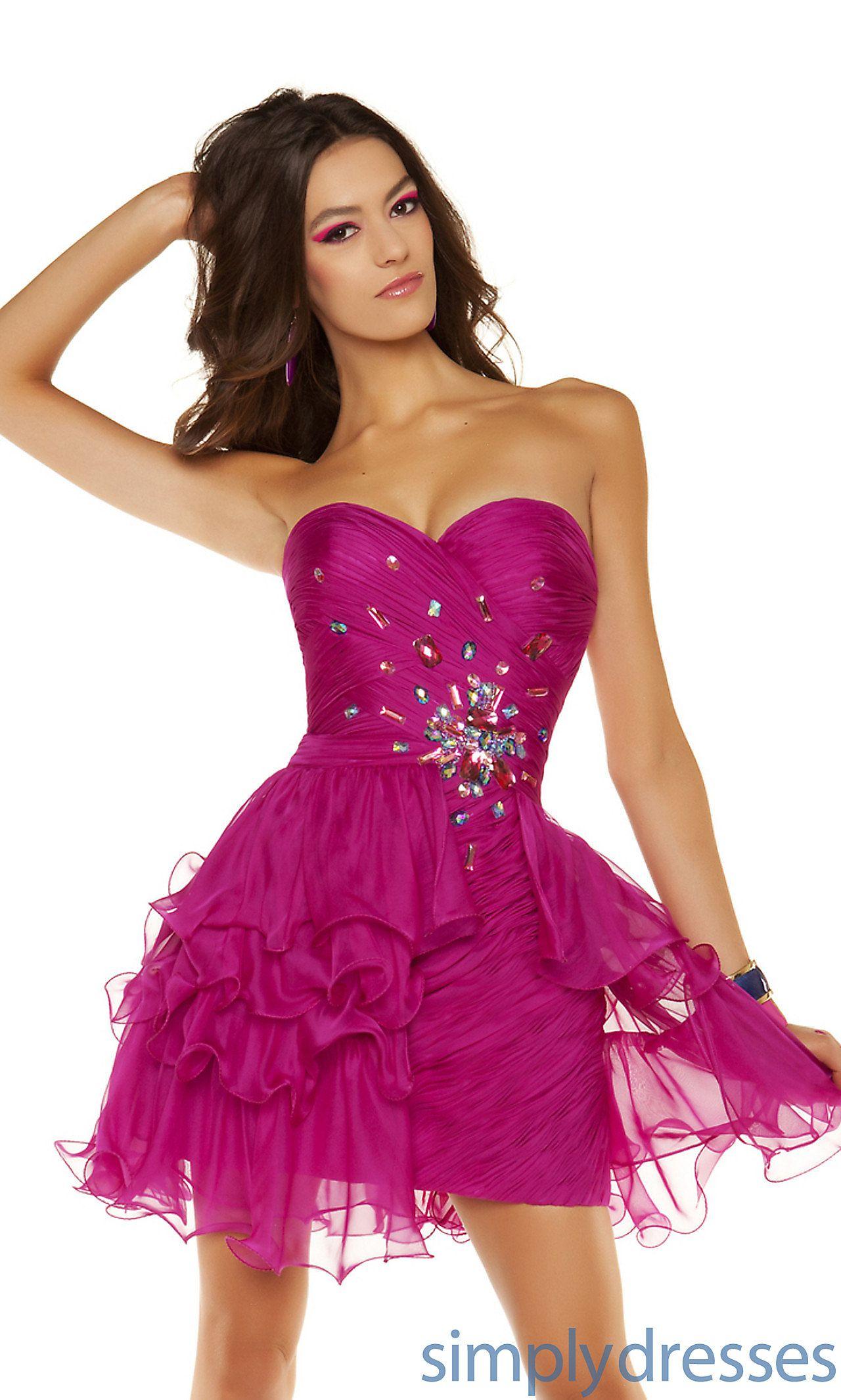 Short Strapless Ruched Dress CS-MD-6442N | Women\'s Fashion that I ...