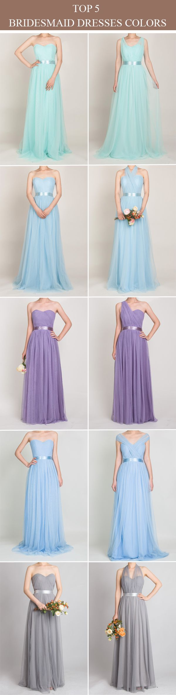 Tulle convertible multiwear bridesmaid dress tbqp mint blue