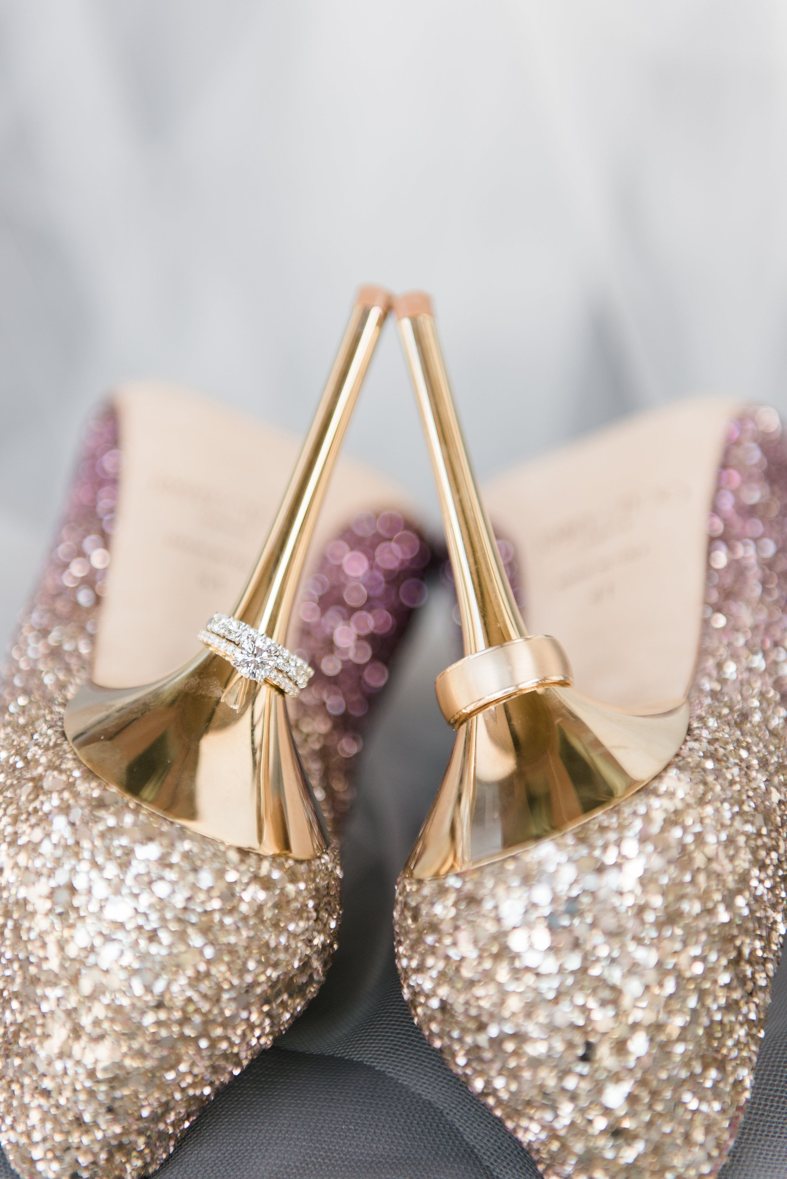 86f545e23b5b67 Glitter heels. Jimmy Choo Stiletto. Wedding shoes. Bridal heels. Purple and gold  sparkly heels.
