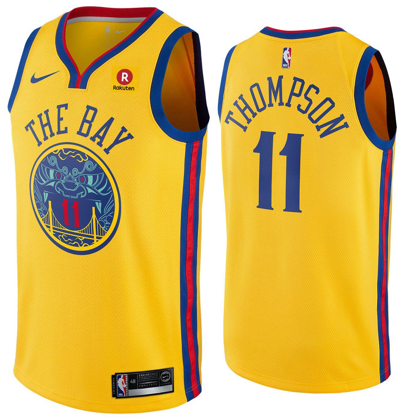 dba79eea204 Golden State Warriors Nike Dri-FIT Men s Chinese Heritage Klay Thompson  11  Swingman City