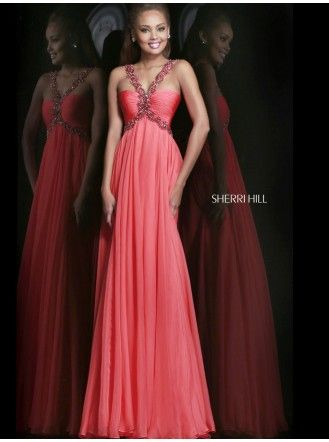 11072 - Coral (Sherri Hill) | Get the look | Pinterest | Evening ...