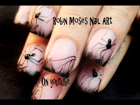 Spider Nails! Easy 3d Halloween Glow in the Dark Nail Art ...