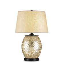 View the Currey and Company 6380 Alfresco Table Lamp with Oatmeal Linen Shade and 3-Way Switch at LightingDirect.com.