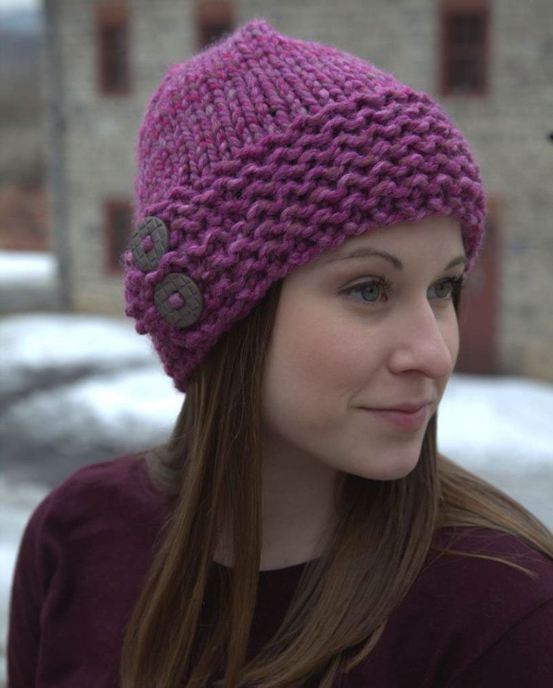 Button hat in plymouth yarn encore mega colorspun f645 button hat in plymouth yarn encore mega colorspun f645 downloadable pdf discover more patterns by plymouth yarn at loveknitting bankloansurffo Gallery
