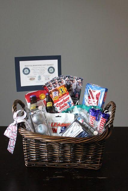silent auction gift basket  tickets gift basket  baseball