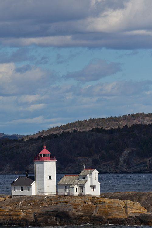 Langøytangen lighthouse, Langøya island,  Norway