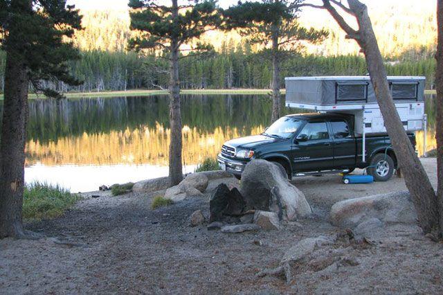 Burnside Lake about twenty miles south of Lake Tahoe