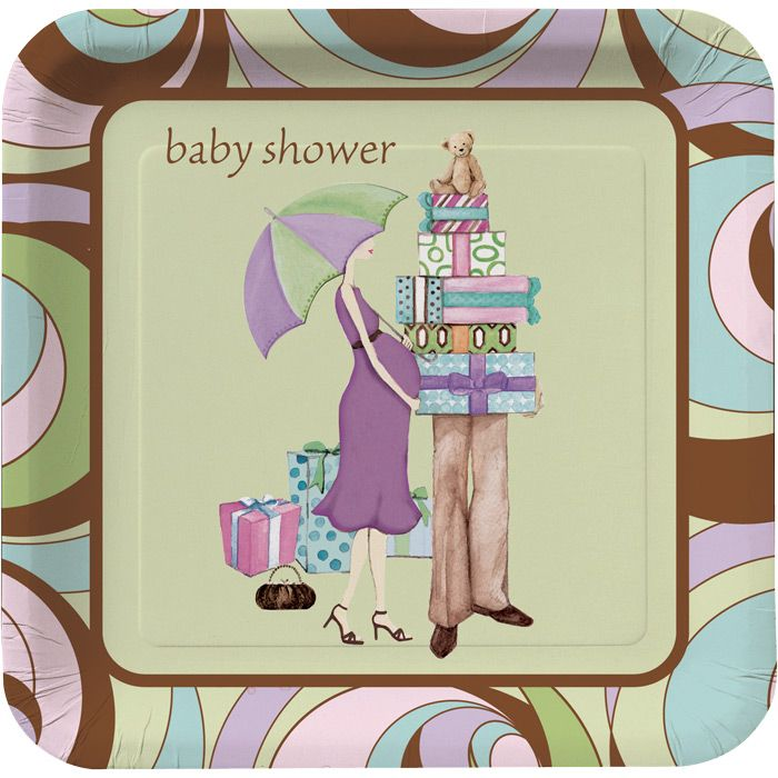 "7"" Parenthood Snack Plates Matching The Parenthood Shower"