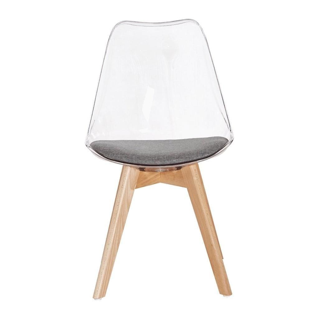 2er Set Stuhl Esszimmerstuhle Kuchenstuhle Wohnzimmerstuhl Stuhle Skandinavisch Mit Grauem Stoffkissen Und Buchenholzbeine Transparent Grau In 2020 Wohnzimmer Stuhle Stuhle Und Kuchenstuhle