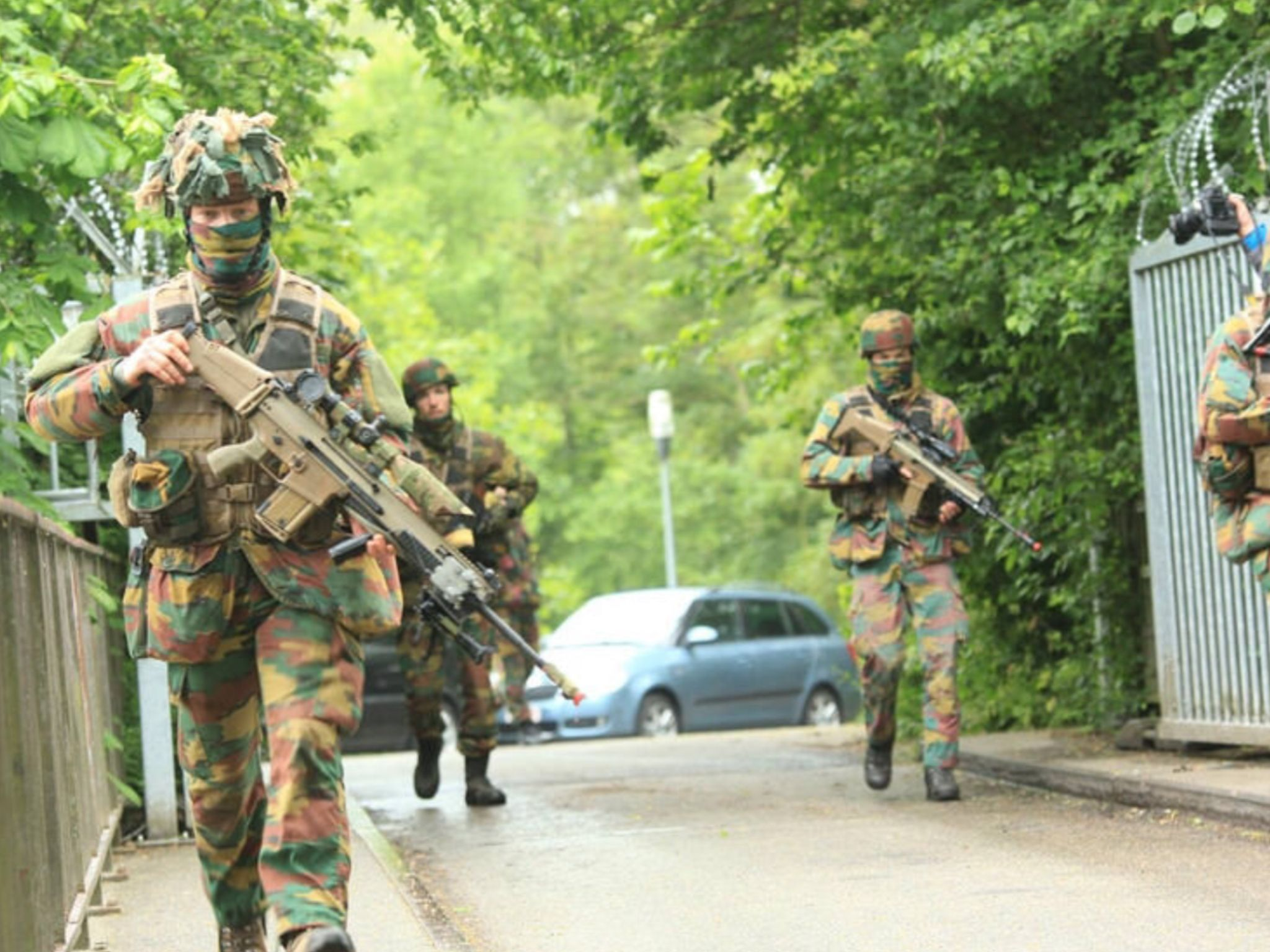 Belgian Army soldiers during exercise Storm Tide 3 – May 2016.