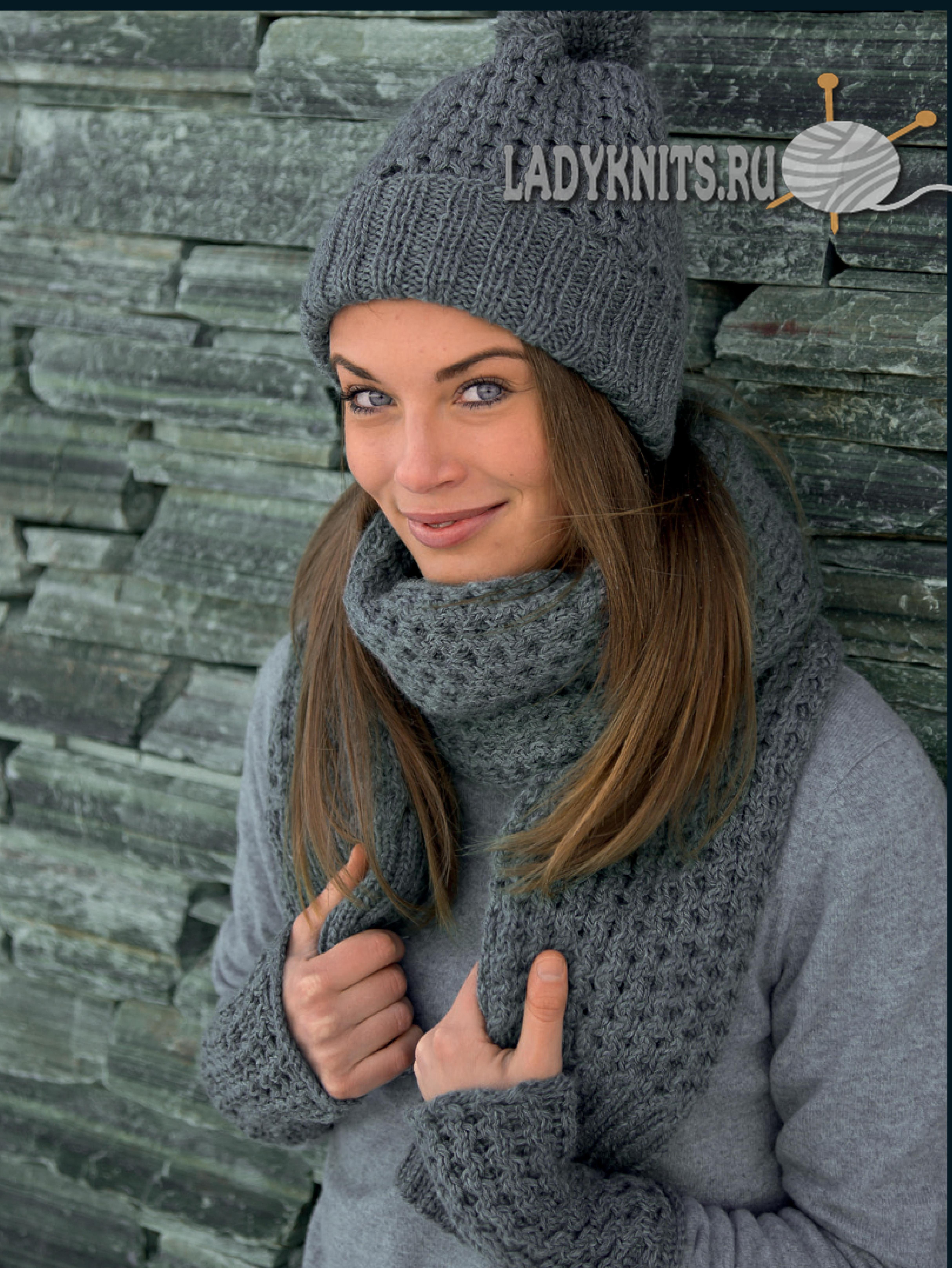 sombrero de moda, bufanda y guantes patrón simple & quot; & quot ...