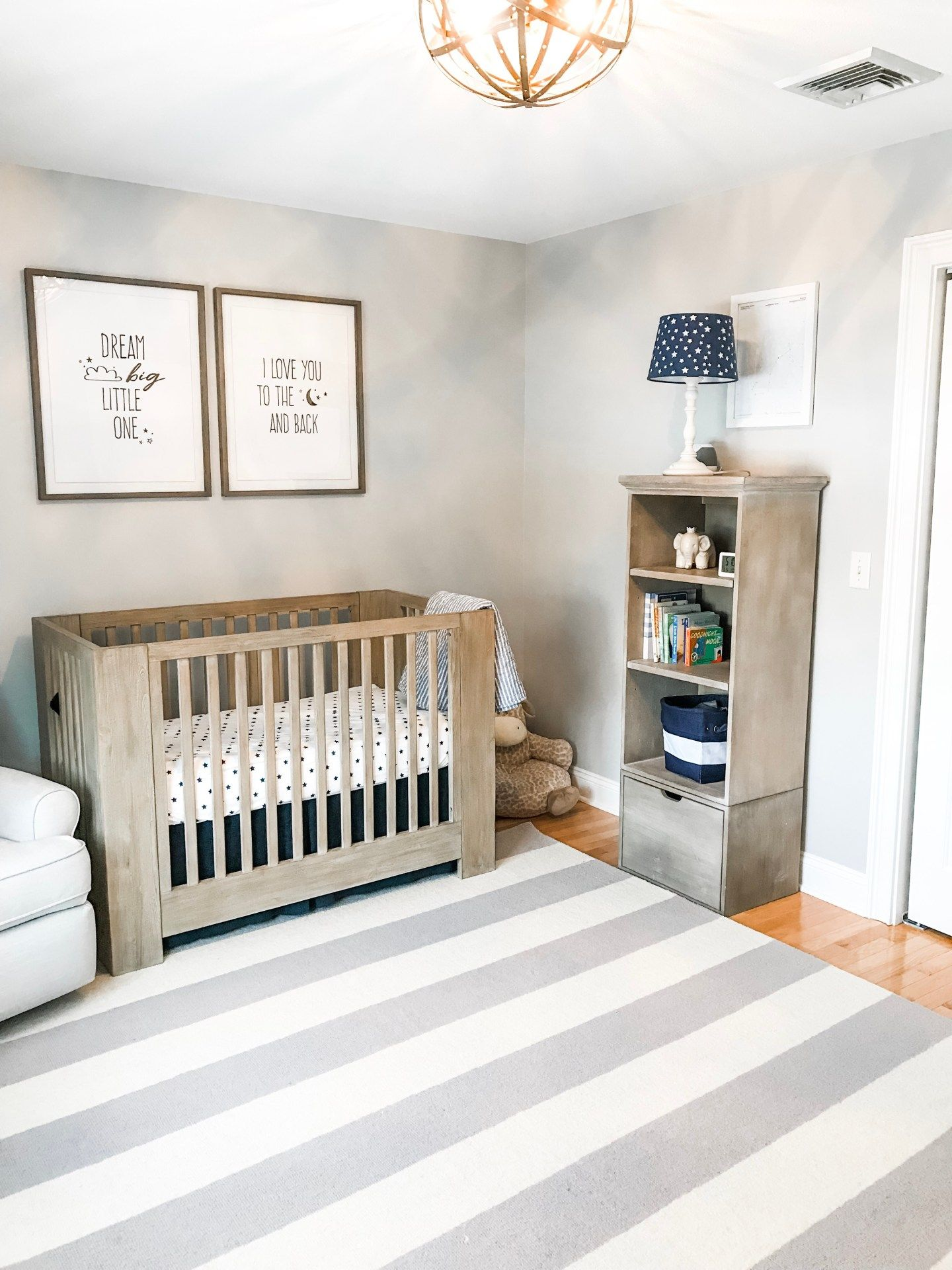 Baby Boy Star Moon Themed Nursery Glam Bytes Room