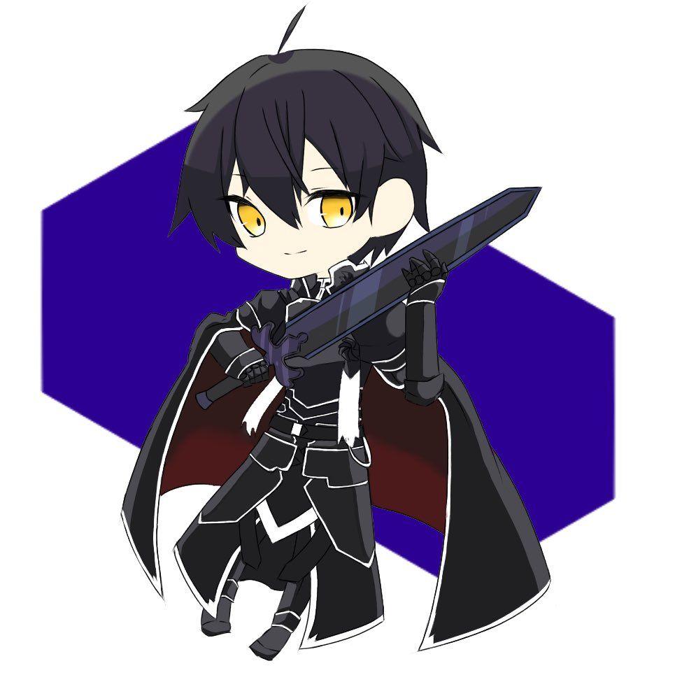 Pin By Farah Nagisa On Sword Art Online Sword Art Online Kirito Sword Art Cute Art
