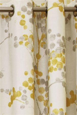 Grey And Mustard Curtains