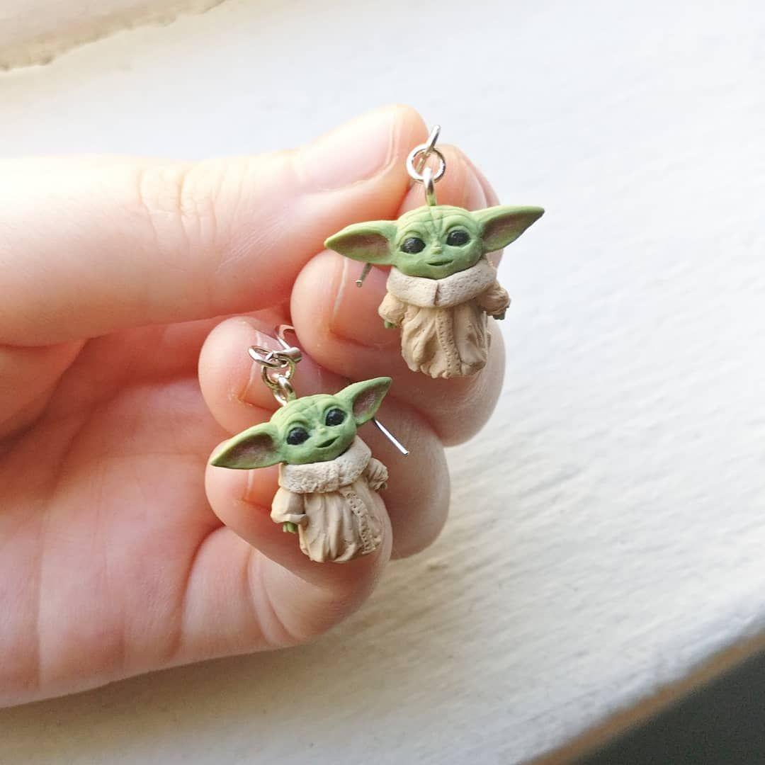 Baby yoda earrings in 2020 crafts make it simple earrings