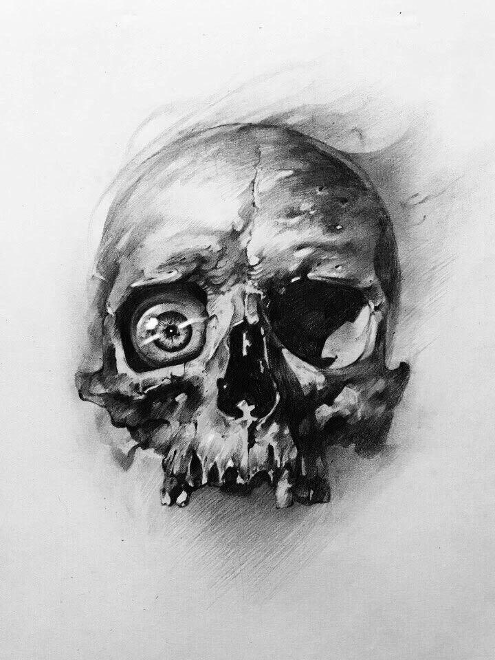 Pin By Hector Alejandro Campagna Hern On Painting Skull Artwork Skull Sketch Skull Tattoo Design