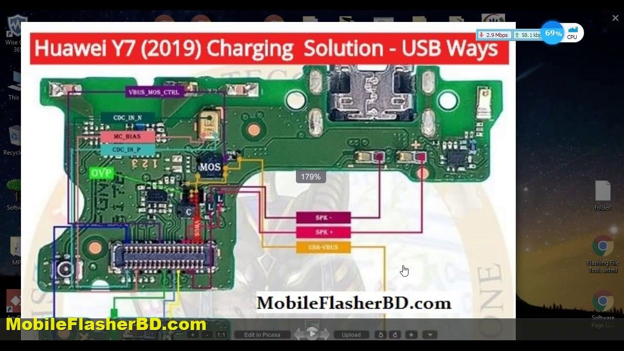 How to fix charging problem huawei y7 2019 charging