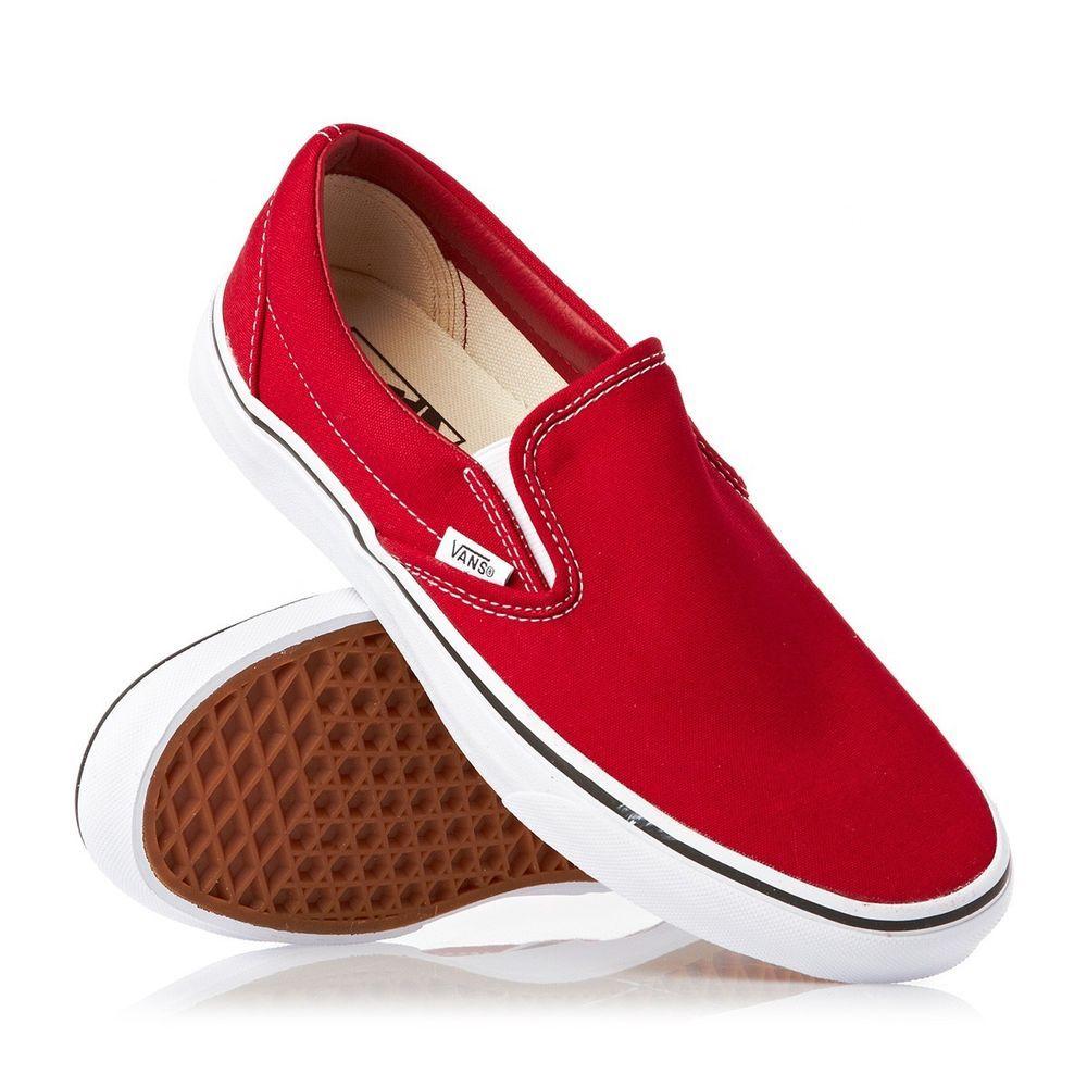 92cd6feacd2ebe red slip on vans Sale