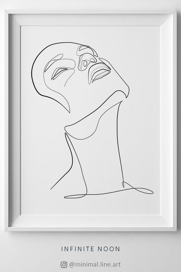 Photo of Single Line Face Printable Drawing, Abstract Facial Art, Feminine Body Art, One Line Sketch, Minimal Illustration, Black and White Line, Art