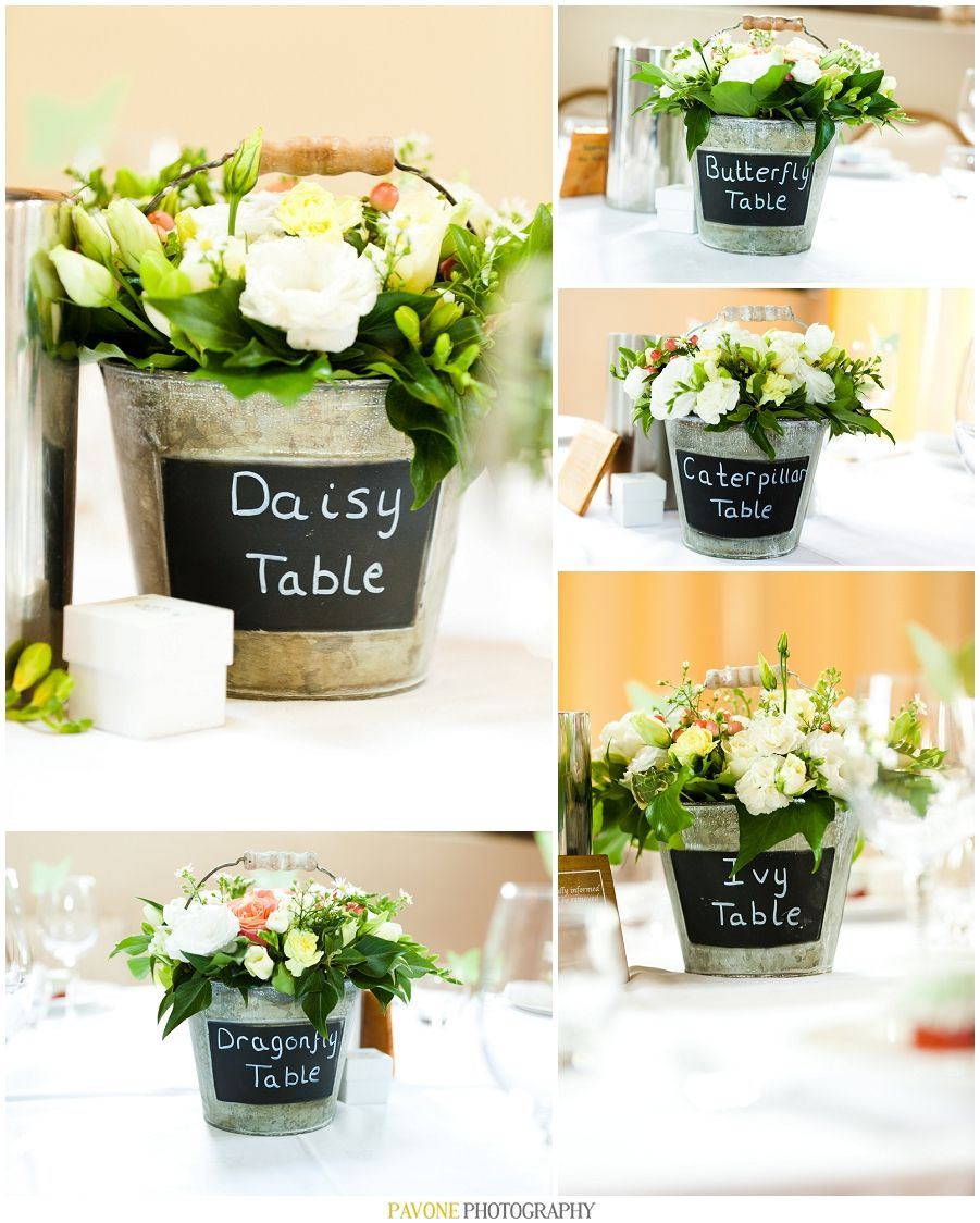 English country garden rustic themed centerpieces