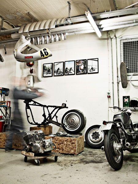 American chopper workshop useful blocks for working on project bikes studio shop pinterest - American motorbike garage ...